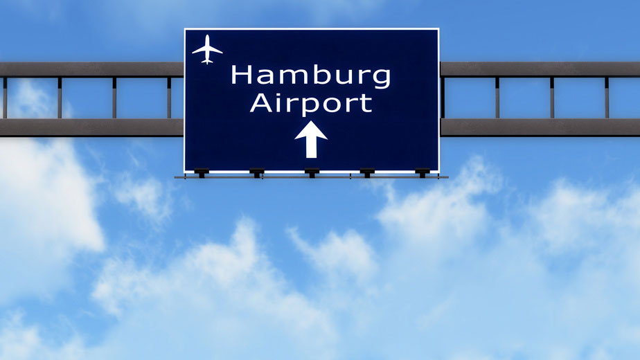 Hamburg Airport - sign